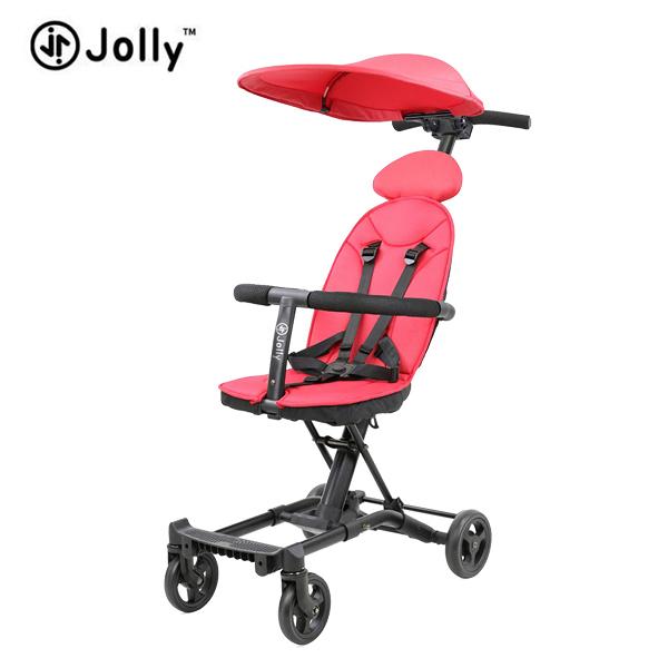英國 JOLLY 輕便摺疊手推車-尊爵版(紅) ●贈 收納袋+肩背袋+遮陽蓬+連接器(送完為止)