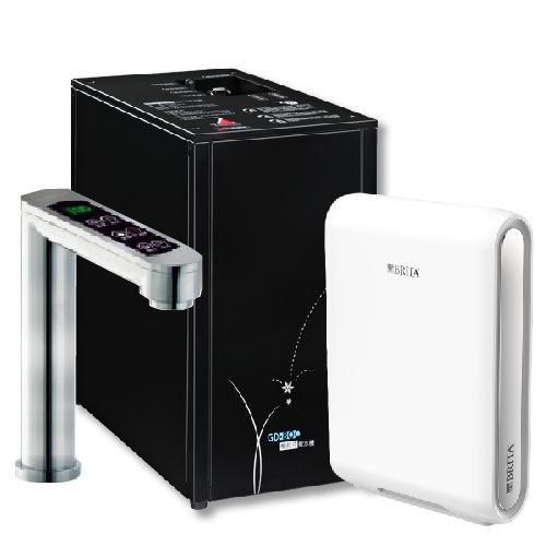 宮黛GUNG DAI櫥下型三溫飲水機/熱飲機GD800/GD-800(科技銀)搭BRITA mypure pro X9 超微濾櫥下過濾系統