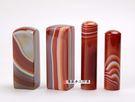 頂級紅瑪瑙公司印章《半手工噴砂》一吋,加長高度,單章。全配包裝。傳家手工印章
