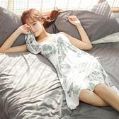 吊帶睡裙女夏韓國韓國學生性感中長裙無袖卡通棉質夏天睡衣時尚薄款 限時八五折 鉅惠兩天