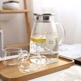 耐熱玻璃冷水壺大容量家用涼水壺高溫晾白開水杯茶壺夏天扎壺 nm2862 【VIKI菈菈】
