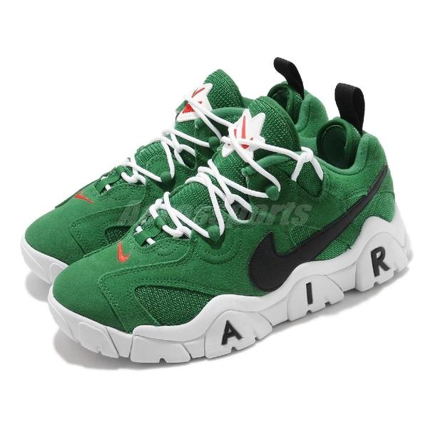 【海外限定】Nike 休閒鞋 Air Barrage Low 綠 黑 白 男鞋 復古籃球鞋 大勾勾 復刻 【ACS】 CT2290-300
