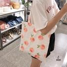 帆布包女單肩側背包包時尚小清新手提帆布袋【愛物及屋】