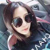 太陽眼鏡2019新款新款網紅墨鏡韓版潮 復古風偏光太陽鏡女圓臉個性多邊形【快速出貨】