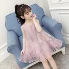 吊帶裙 女童洋裝夏裝新款超洋氣無袖網紗兒童吊帶公主裙女孩裙子潮