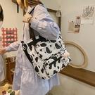 媽咪包 媽咪包2021年新款母嬰包韓版大容量奶牛紋手提包休閑時尚斜挎包潮