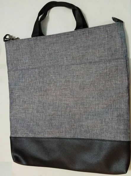 韓國進口手提側背二用袋 (帆布+PE) 長39寬36公分