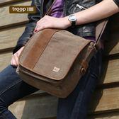 【TROOP】傳統簡約HERITAGE單肩包/TRP0307BN(棕色)