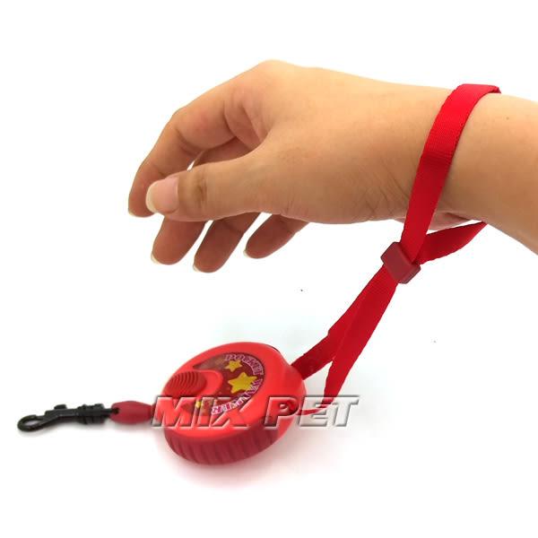 ◆MIX米克斯◆帕比樂◇日本DoggyMan史上最輕巧的伸縮牽繩【3米】紅/藍/黃/可選擇,5kg內犬用