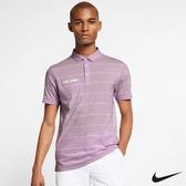 Nike Golf Dri-FIT Rory Mcilroy 男子高爾夫POLO衫上衣 紫 AT8947-543