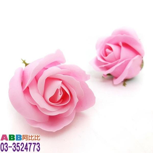 A1307-3_玫瑰花頭_5.5cm_粉#母親節康乃馨康乃馨花花束玫瑰花香皂花婚禮小物