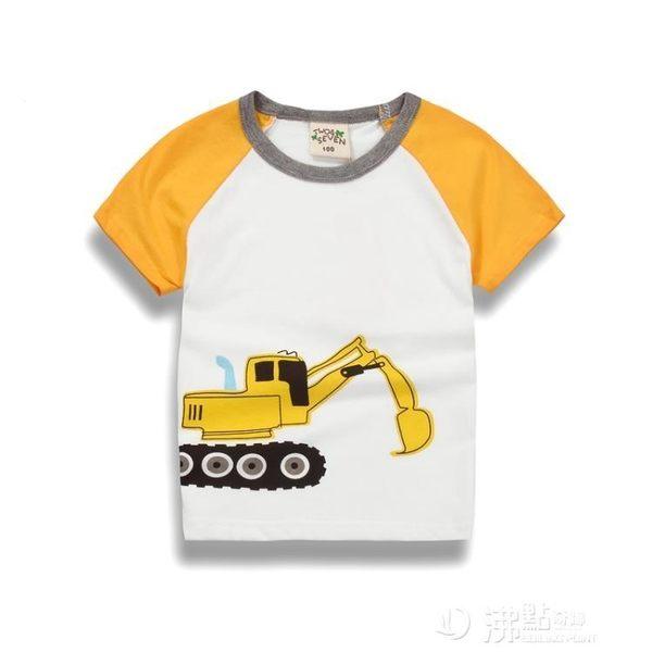 夏季童裝男童t恤寶寶短袖純棉汗衫 夏裝潮款中小童正韓T恤衫 沸點奇跡