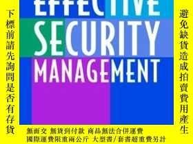 二手書博民逛書店Effective罕見Security Management, Fourth EditionY255562 C