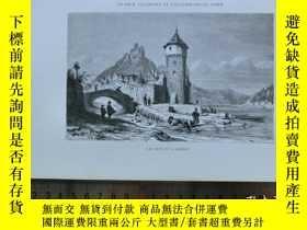 二手書博民逛書店【罕見】19世紀 銅 鋼版畫 單幅LE CHAT ET LA S