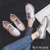 網紅懶人小白鞋女春季爆款韓版潮百搭學生平底板鞋帆布鞋 聖誕節全館免運