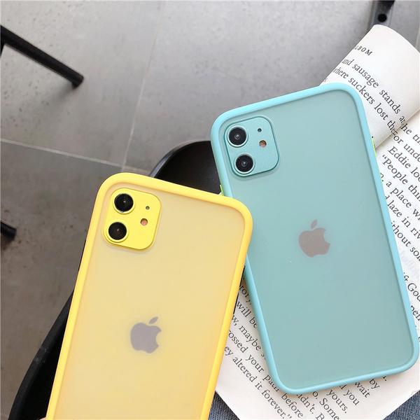 撞色邊框 蘋果 iPhone XS SE2 XR iPhone7Plus 全包邊 i6 i11Pro iX i8Plus 保護殼 手機殼
