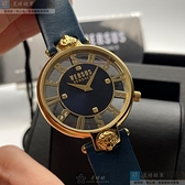 VERSUS VERSACE凡賽斯女錶36mm黑色錶面深藍錶帶