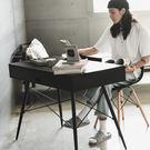 書桌 電腦桌  辦公桌【X0015】泰倫功能收納雙抽上掀書桌(黑色) MIT台灣製 完美主義
