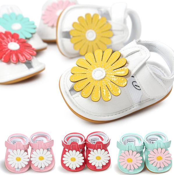 童涼鞋 嬰兒夏款大花朵軟膠底涼鞋 B7A002 AIB小舖