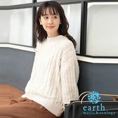 ❖ Winter ❖ 絲絨光澤感麻花辮針織上衣 - earth music&ecology
