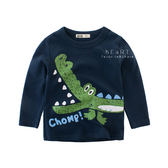 牙齒鱷魚圓領長袖上衣 童裝 T恤 T-shirt 長袖