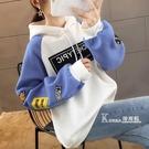 連帽T恤女秋冬新款韓版加絨加厚學生寬鬆百搭長袖T恤女上衣服潮 Korea時尚記