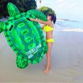 游泳圈 充氣-超大海龜安全手把水上活動坐騎浮板73ez8[時尚巴黎]