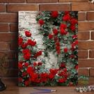 diy數字油畫花卉風景手繪植物填色畫裝飾油彩畫【步行者戶外生活館】
