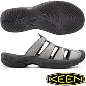 [好也戶外] KEEN ARUBA II男款專業戶外護趾拖鞋 黑/灰 No.1016792/1016793