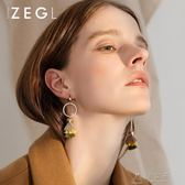 新款耳飾顯臉瘦的流蘇耳環女氣質韓國長款個性潮耳墜    俏女孩