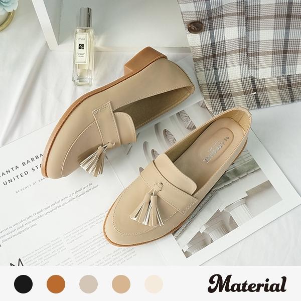 包鞋 文青流蘇樂福鞋 MA女鞋 T8040