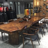 實木會議桌椅組合長條桌辦公桌簡約現代桌子洽談大板原木長桌【帝一3C旗艦】YTL