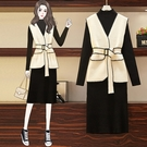洋裝 連身裙中大尺碼女裝大碼秋冬季套裝女...