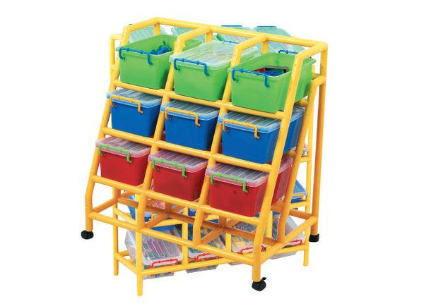 【限宅配】 9桶大斜架-收納盒#905-019GT-2 (不含架子) 智高積木 GIGO 創意傢俱系列 (購潮8)