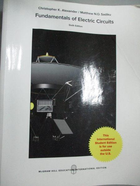 【書寶二手書T1/大學理工醫_WGZ】Fundamentals of Electric Circuits