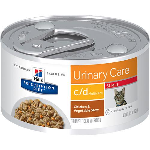 【寵物王國】希爾思c/d Multicare Stress泌尿道護理全效舒緩緊迫(雞肉燉蔬菜)貓處方罐82g
