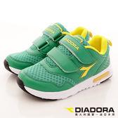 【DIADORA】義大利國寶童鞋-輕量4E透氣款流行跑鞋-DA7AKC3885-黃綠-中大童段-現+預