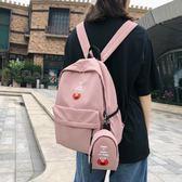 日系書包女古著感少女背包韓版尼龍丑萌書包芝麻街學生後背包
