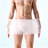 運動內褲 簡云男士冰絲無痕內褲透氣平角褲一片式四角褲超薄款短褲頭夏季潮 瑪麗蘇