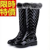 雪靴-加絨保暖高筒平跟女長靴64aa14[巴黎精品]
