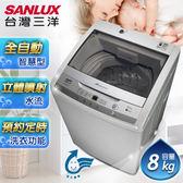 SANLUX台灣三洋 媽媽樂8kg單槽洗衣機 ASW-95HTB 原廠配送+基本定位安裝
