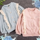 毛料織花珍珠釦長袖外套-2色(30036...