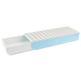 筆盒 抽屜筆盒辦公室桌面隱藏收納盒黏桌底盒子高中學生文具盒簡約創意 2色