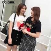中大尺碼 愛心字母T恤上衣~共兩色 - 適XL~5L《 68187 HH 》CC-GIRL