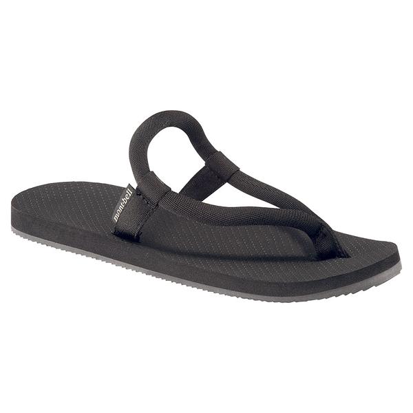 [好也戶外]mont-bell SLIP-ON SANDALS夾腳拖鞋 黑 白/寶藍 NO.1129477
