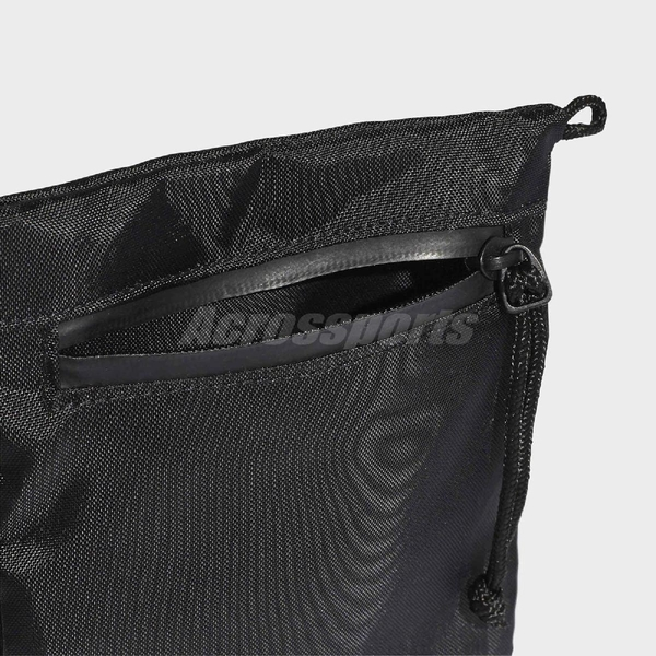 adidas 斜背包 Simple Pouch 黑 白 男女款 運動休閒 【ACS】 FM1310