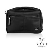 【VOVA】天際系列橫式雙層斜背包-大(黑色)VA117S06BK