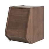 日本 IRIS 木質可掀門堆疊櫃 W30xH40cm 深木色