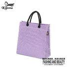 手提袋-編織袋(S)-紫白-03C
