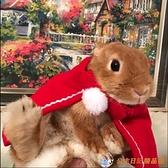 圣誕披風兔子衣服斗篷寵物兔新年喜慶貓咪小型犬狗狗衣【公主日記】